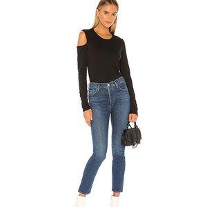 N:philanthropy black long sleeve Leah t shirt NWT